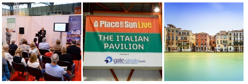 the Italian Property Pavilion at A Place in the Sun Live, Olympia London 28th-30th March 2014