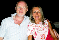 Keith and Anne Grima in Paphos, Cyprus