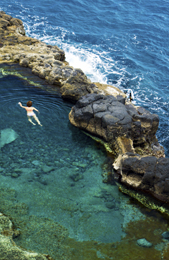 natural pool in La Palma
