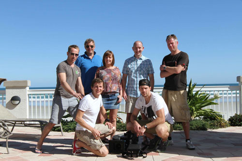a place in the TV series filming crew in Florida