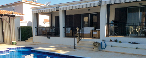the Humby's 3 bedroom villa in Tala, Cyprus