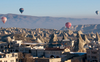 The climate and landscape in Cappadocia make it one of the best places for ballooning anywhere in the world
