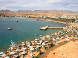 The beach at Naama Bay, Sharm el Sheikh