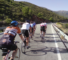 cyclists in Alpujarras, Spain
