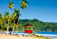 View of a beach on Trinidad and Tobago