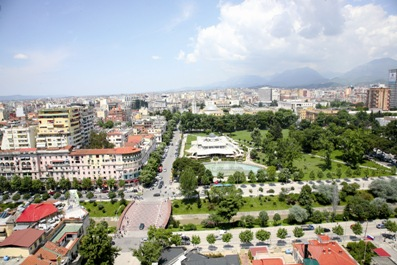 Tirna, the capital of Albania