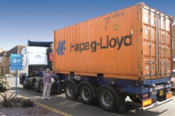 Jane Ebeling's removals lorry being loaded in Colchester