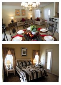 Interior shots of villa in Davenport, Florida, USA