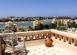 Georgina Col'e roof terrace and view in El Gouna, Egypt
