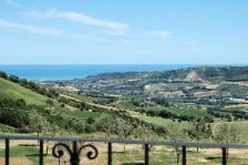The view from Casa Giacomo on the Giacomo Leopardi estate in the hilltop town of Montefiore dell'Aso.
