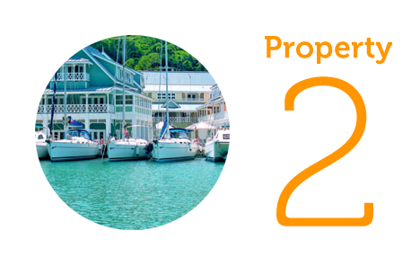 Property 2: Luxury two-bed apartment in Marigot Bay