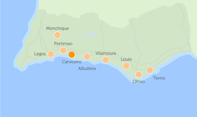 Interactive Map Of Property In The Algarve - Portugal map carvoeiro
