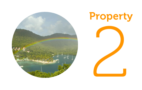 Property 2: Three storey villa in Marigot Bay