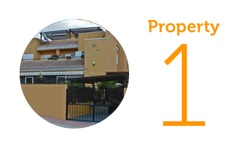 Property 1: Three bed townhouse in Los Gallardos
