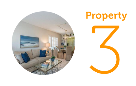 Property 3: Two-bedroom townhouse on Gulf Shore