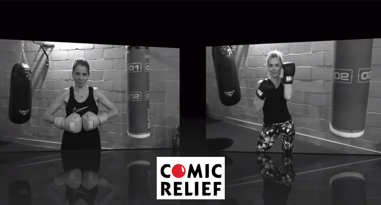Laura Hamilton & Jasmine Harman Gym-Off for Comic Relief