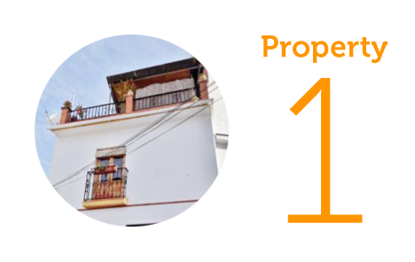 Property 1: Three-bedroom townhouse in Velez Malaga