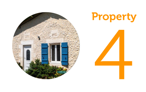 AWAY Property 4: Four-bedroom house in Verteillac