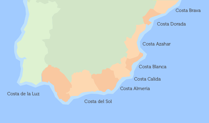 Map Of Spain Reus.Where To Buy A Property In Spain