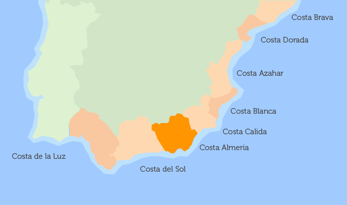 Map Of The South Of Spain.Where To Buy A Property In Spain