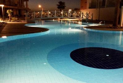 communal-pool-at-night--ramada-resort-apartment--kusadasi