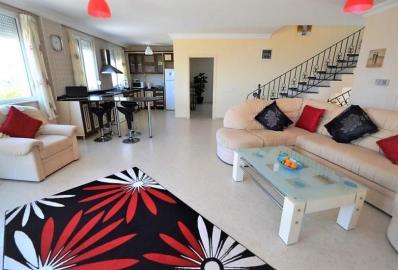 open-plan-living-area--key-ready-sea-view-villa--alanya