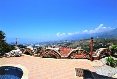 scenice-views-from-terrace--key-ready-sea-view-villa--alanya