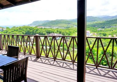 St-Lucia-Homes---Villa-Cadasse---dining-patio-view