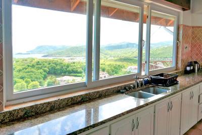 St-Lucia-Homes---Villa-Cadasse---kitchen-sink-view-copy