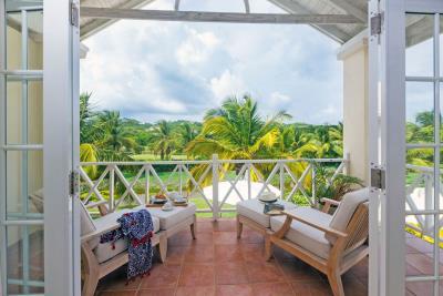 St-Lucia-Homes---CAP131---Villa-Cyrus--Bedroom-patio-view