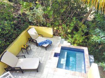 St-Lucia-Homes---CAP128---Allamanda---Livingroom-plunge-pool