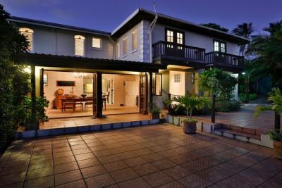 10-Rear-Pool-Terrace-Dining-Room-Guest-Bedroom-and-En-Suite-balconies-Plantation-House-