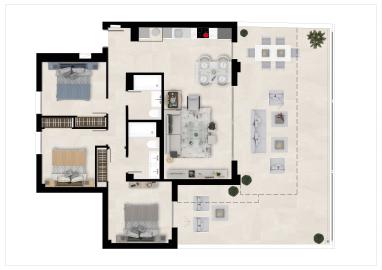 Plan1_The-Crest_apartments_La-Quinta_Benahavis_TIPOA_GROUNDFLOOR