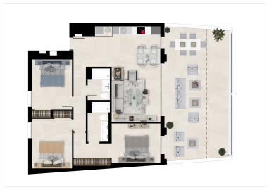 Plan4_The-Crest_apartments_La-Quinta_Benahavis_TIPOB_GROUNDFLOOR