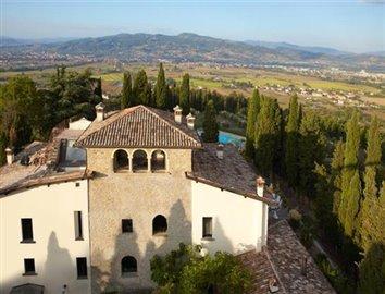 Aeriel view of the villa