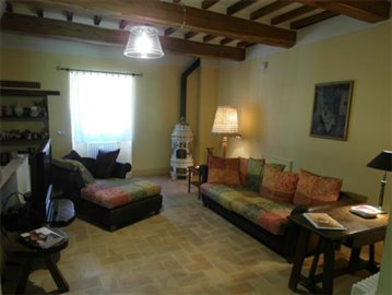 Casale dell'Olmo - The first floor living room