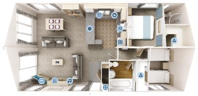 Willerby-Clearwater-Lodge-2020-Floorplan-40x20-2-bed