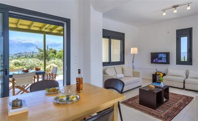 Dining-Living Area With Back Veranda