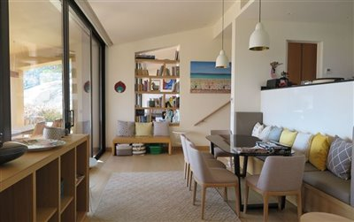 Beach Villa in Bodrum For Sale - Lower dining area