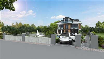 Detached 4-Bed Villas In Ovacik - Private parking