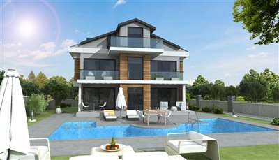 Detached 4-Bed Villas In Ovacik -Private swimming pool