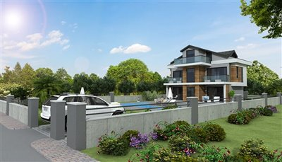 Detached 4-Bed Villas In Ovacik - Walled and gated