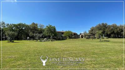 Stone-Farmhouse-with-land-for-sale-between-Siena-and-Grosseto-Tuscany-Italy-4