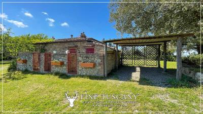 Stone-Farmhouse-with-land-for-sale-between-Siena-and-Grosseto-Tuscany-Italy-21