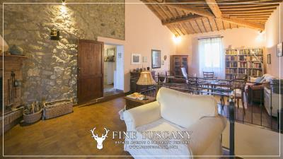 Stone-Farmhouse-with-land-for-sale-between-Siena-and-Grosseto-Tuscany-Italy-55