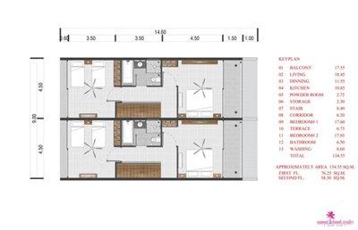 Choeng-Mon-2-Bedroom-Townhouses-Samui-2nd-floor-plan