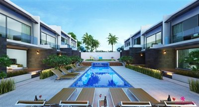 Choeng-Mon-2-Bedroom-Townhouses-Samui-exterior-pool-view