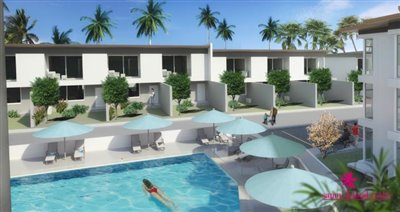 Choeng-mon-townhouses-for-sale-koh-samui-communal-pool