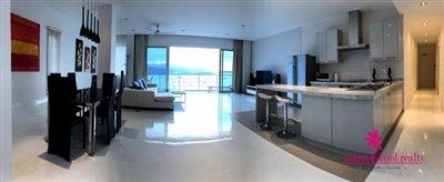 Sea-View-Penthouse-Apartment-For-Sale-Ko-Samui-Open-Plan-Living