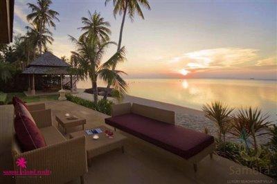 villa-samara-beachfront-villa-koh-samui-sunset